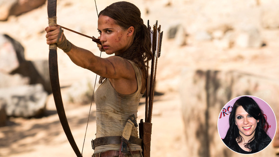 Tomb Raider Still and K. Flay - Inset - Getty - H 2018
