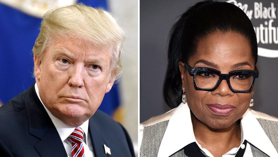 Trump and Oprah Winfrey -Serious-Getty-Split-H 2018