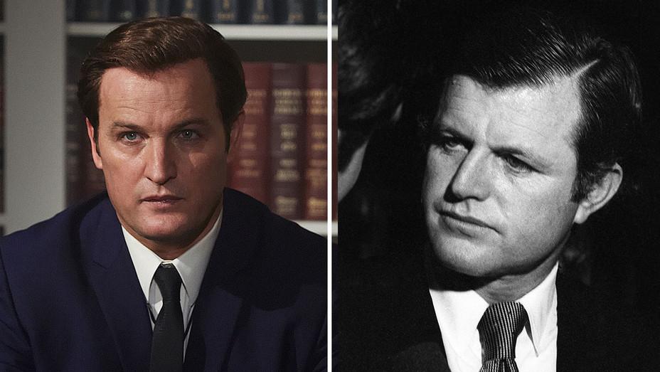 Chappaquiddick - Jason Clarke as Ted Kennedy and Ted Kennedy-Split- Getty-H 2018