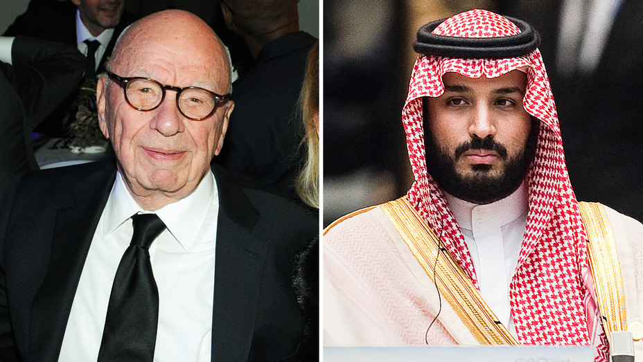 Rupert Murdoch and Mohammed bin Salman - Split - Getty - H 2018