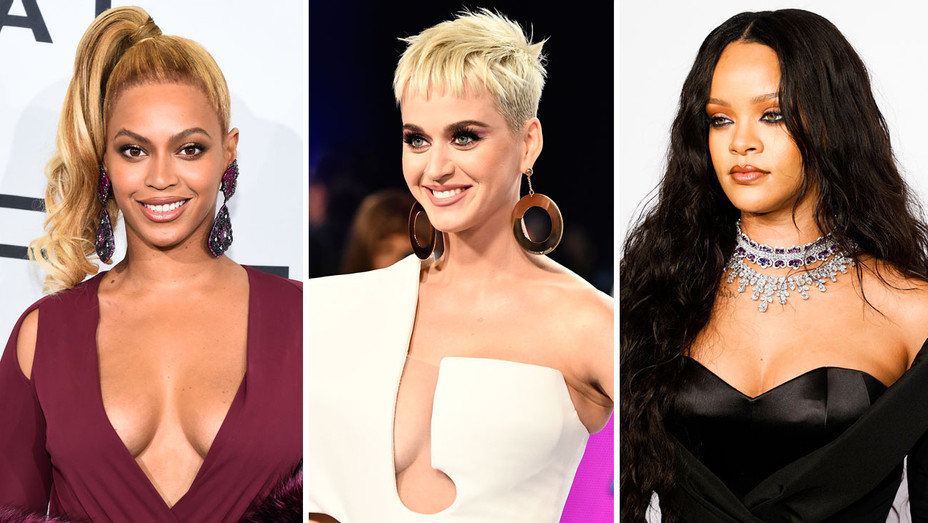 Beyonce, Katy Perry and Rihanna - Split - Getty - H 2018