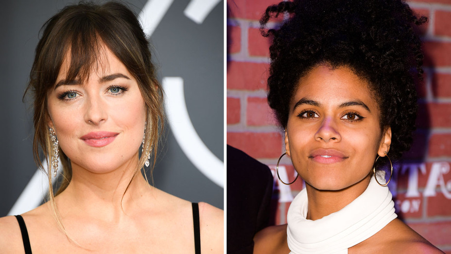 Dakota Johnson and Zazie Beetz - Split - Getty - H 2018