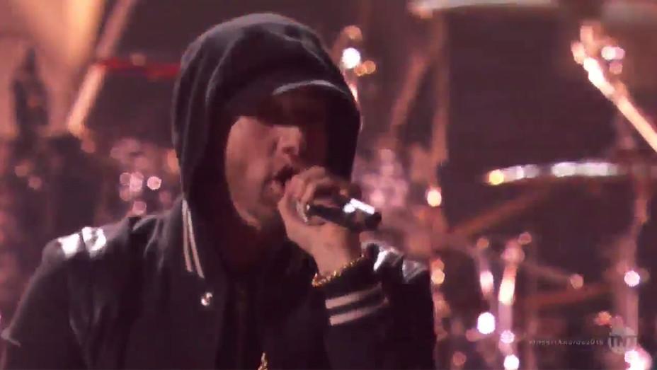 Eminem Performs at IHeartRadio Music Awards - H Screengrab 2018