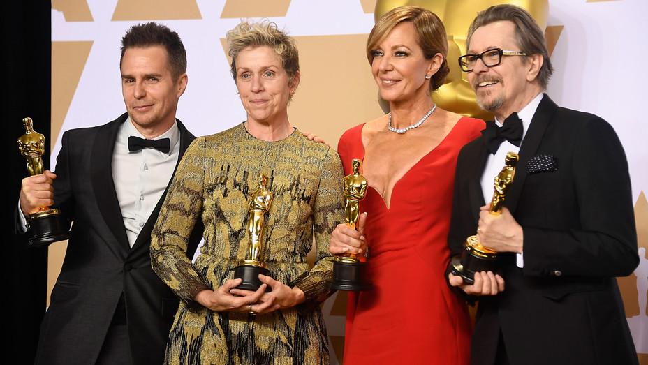 Frances McDorman Oscars Statue 2 - Getty - H 2018
