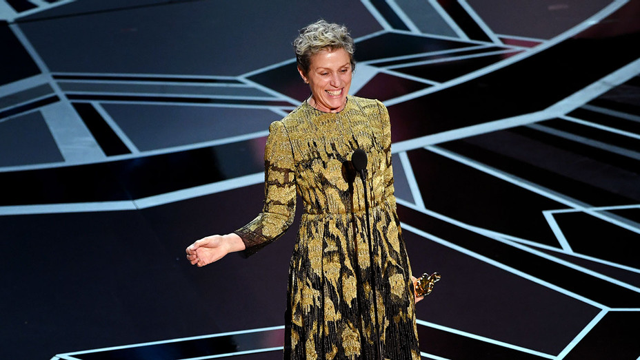 frances mcdormand_Oscars_Onstage - Getty - H 2018