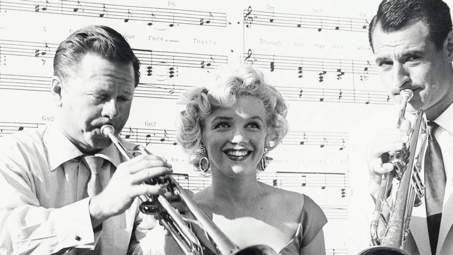 Mickey Rooney and Marilyn Monroe with Ray Anthony 2 - One Time Use Only - Getty - H 2018