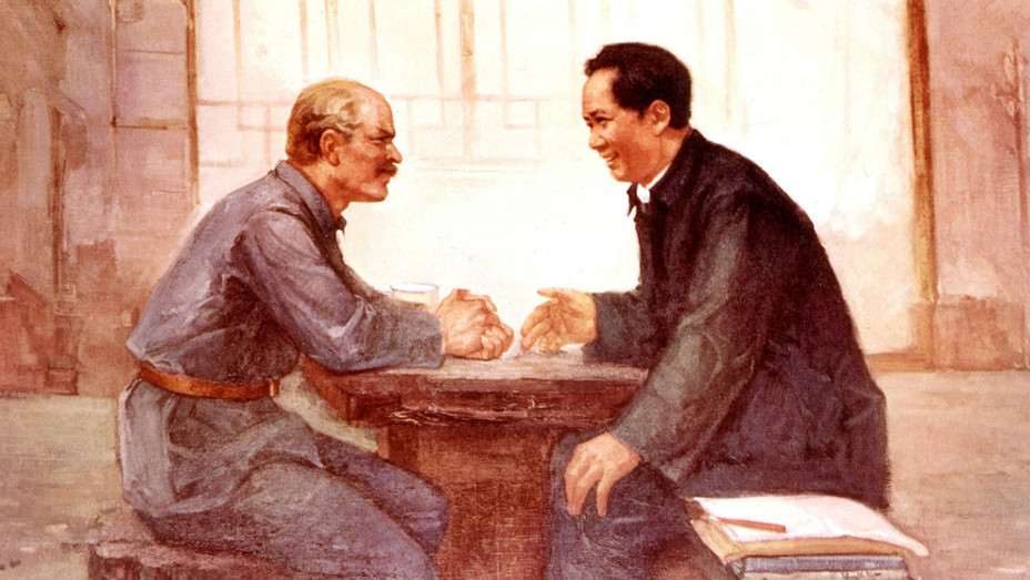 Mao Zedong and Norman Bethune Illo - Getty - H 2018