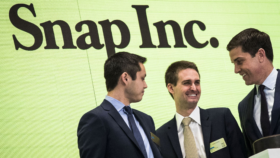 Snap Inc Bobby Murphy, Evan Spiegel NYSE 2017 - Getty - H 2018