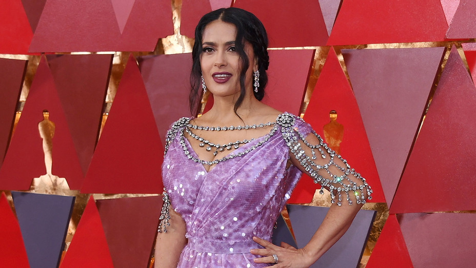 Salma Hayek Oscar Redcarpet - Getty - H 2018
