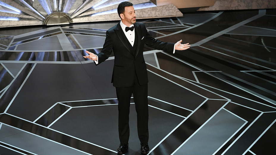 Jimmy Kimmel on Stage Oscars - Getty - H 2018