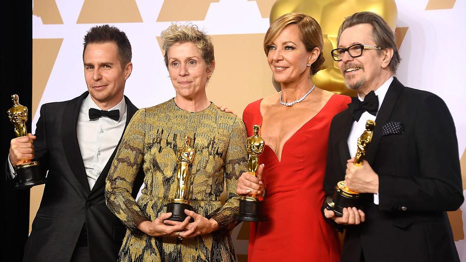 90th Annual Academy Awards - Sam Rockwell - Frances McDormand-Allison Janney-Gary Oldman- 2Getty-H 2018