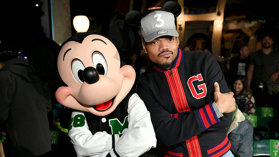 """Mickey Mouse and Chance The Rapper -launch of """"Mickey the True Original"""" campaign - Getty-H 2018"""