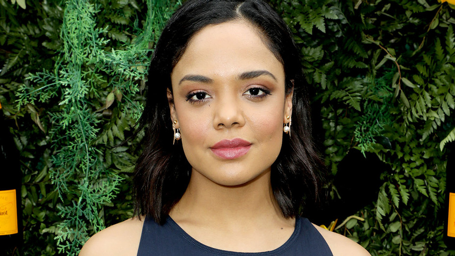 Tessa Thompson is seen at the Veuve Clicquot Fourth Annual Clicquot Carnaval  - Getty-H 2018