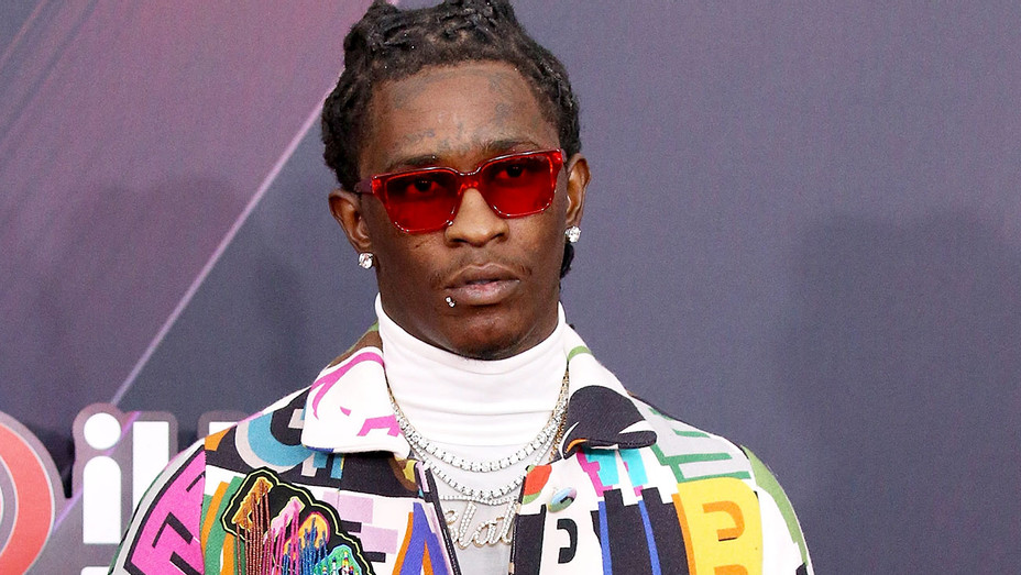 Young Thug arrives to the 2018 iHeartRadio Music Awards - Getty-H 2018