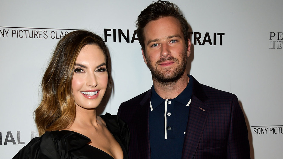 Elizabeth Chambers and Armie Hammer - Final Portrait Premiere - Getty - H 2018