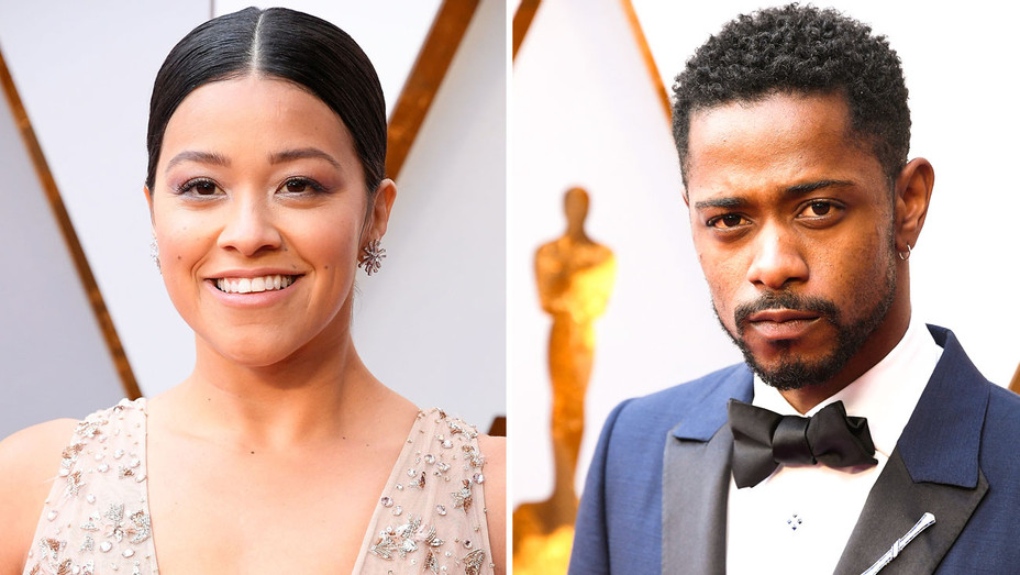 Gina Rodriguez and Lakeith Stanfield - Split - Getty - H 2018
