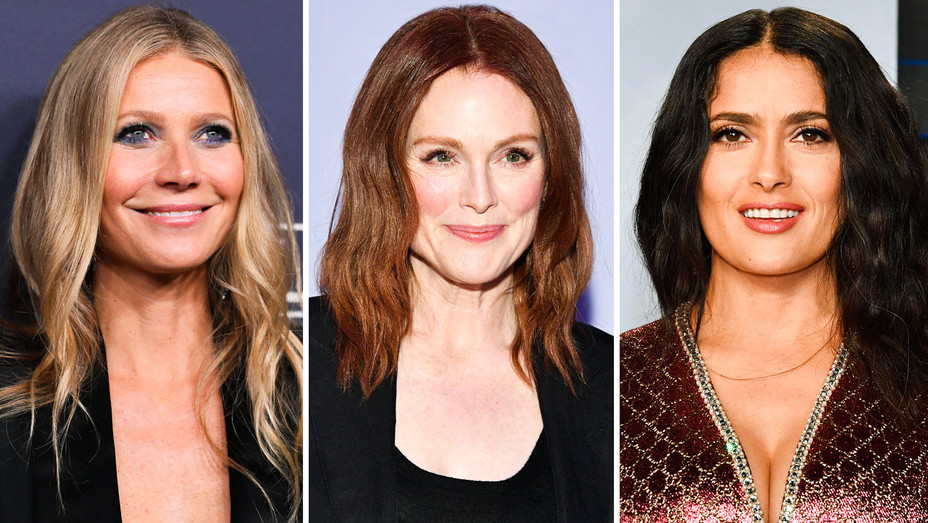 Gwyneth Paltrow, Julianne Moore and Salma Hayek - Split - Getty - H 2018