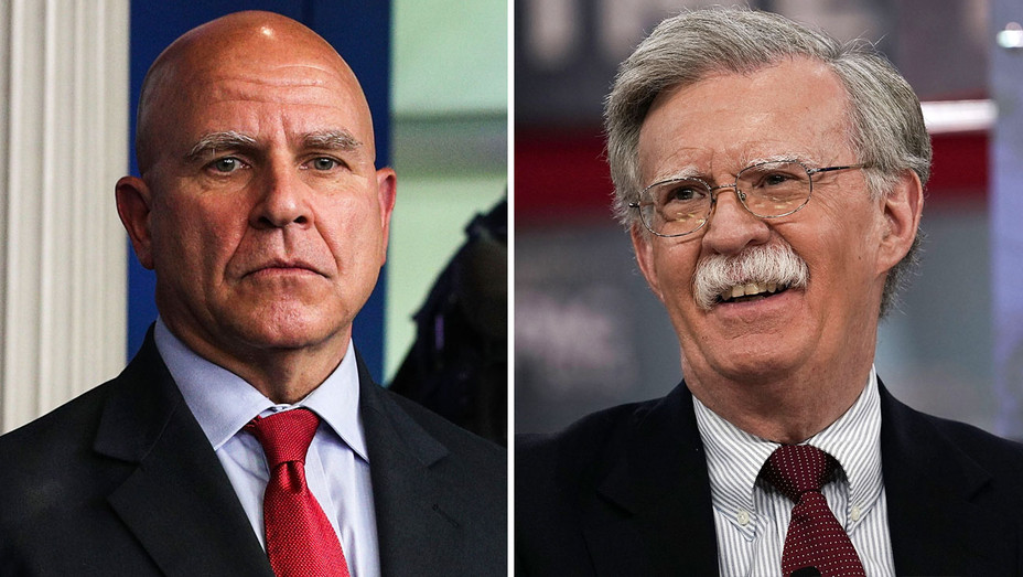 H.R. McMaster and John Bolton - Split - Getty - H 2018