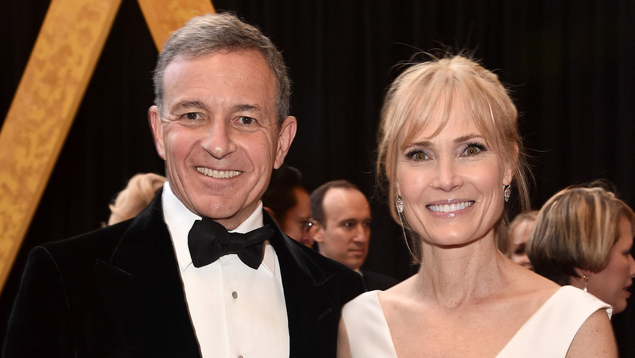 Bob Iger and Willow Bay - Oscars 2018 - H Getty