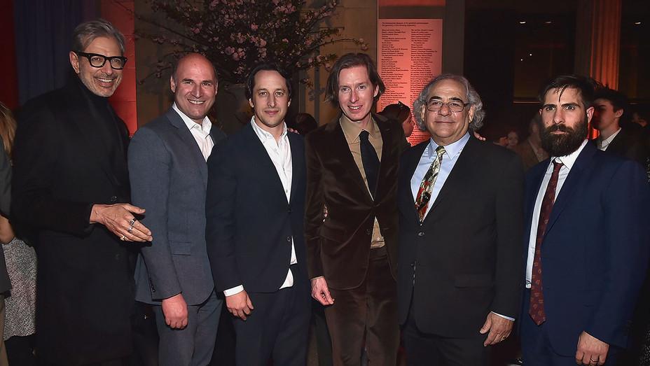 Jeff Goldblum, Matthew Greenfield, David Greenbaum, Wes Anderson, Steve Gilula and Jason Schwartzman - Getty - H 2018