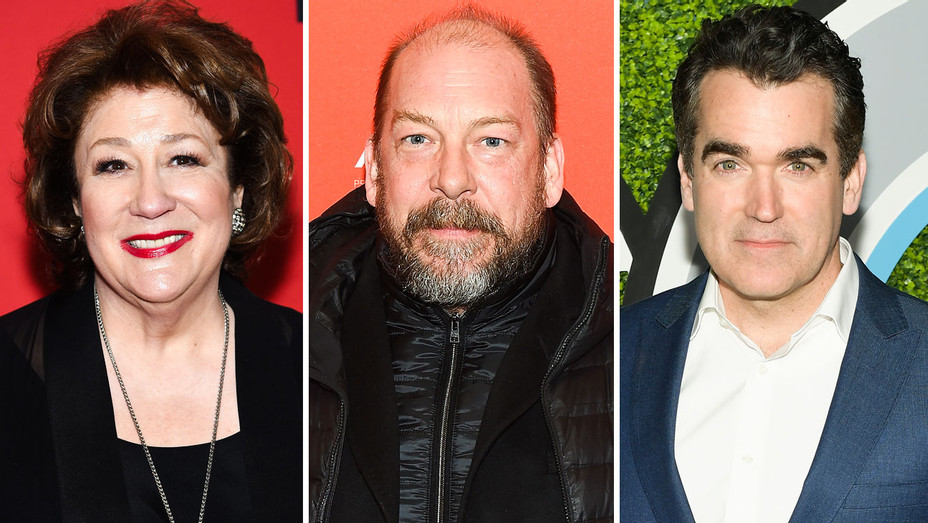 Margo Martindale, Bill Camp and Brian D'Arcy James - Split - Getty - H 2018
