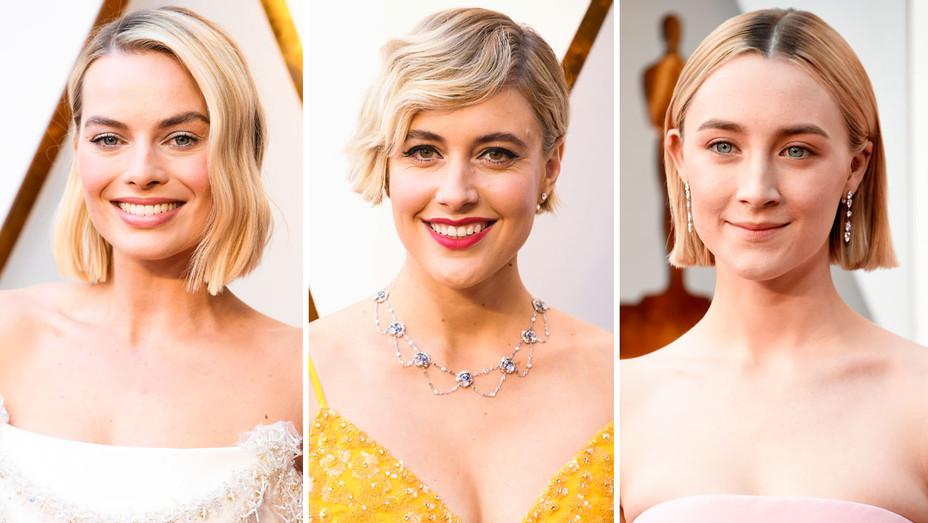Margot Robbie, Greta Gerwig and Saoirse Ronan - Split - Getty - H 2018