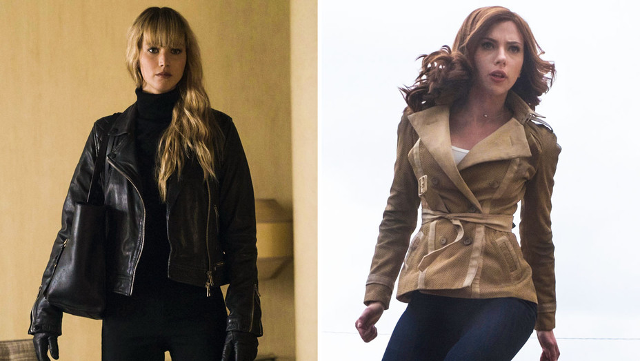 Red Sparrow and Captain America Civil War Still - Split - Photofest - H 2018