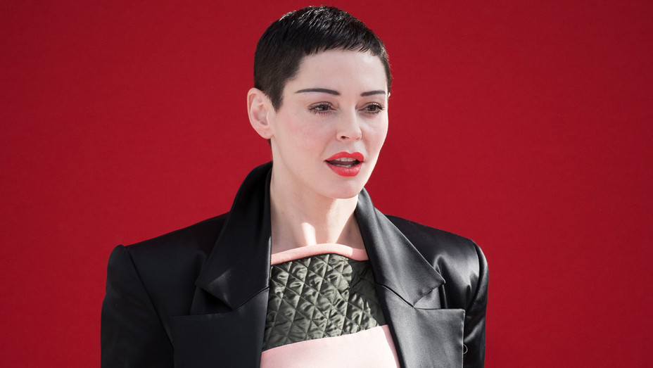 Rose McGowan at Vivienne Westwood - Getty  - H 2018