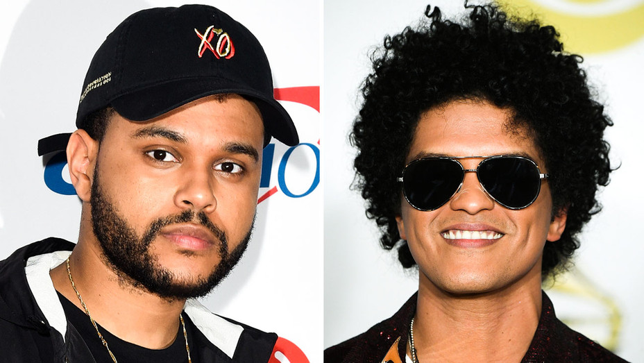 The Weeknd and Bruno Mars - Split - Getty - H 2018