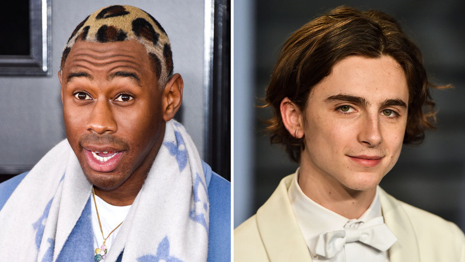 Tyler the Creator and Timothee Chalamet - Split - Getty - H 2018