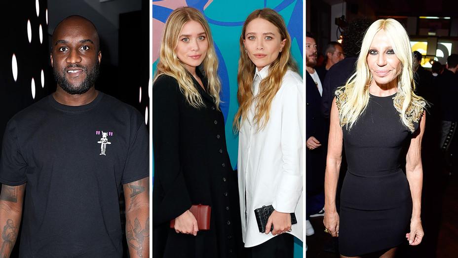 Virgil Abloh, Mary Kate & Ashley Olsen, and Donatella Versace_Split - Getty - H 2018