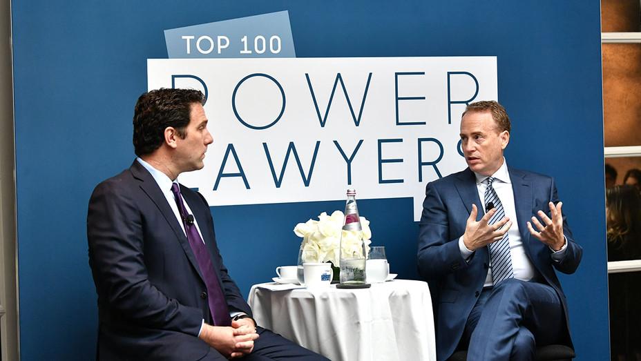 The Hollywood Reporter Power Lawyers Breakfast 2018 - Matt Belloni and Robert Greenblatt - Getty-H 2018
