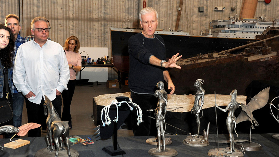 James Cameron - press a tour of the museum at the AMC James Cameron's Story of Science Fiction Launch - Getty-H 2018