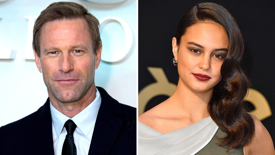 Aaron Eckhart and Courtney Eaton Split-Getty-H 2018