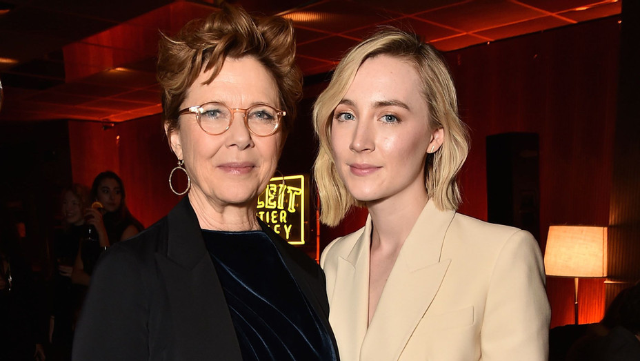 Annette Bening and Saoirse Ronan at 'The Seagull' Tribeca Afterparty - H Getty 2018