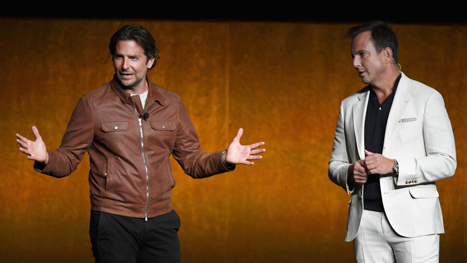 Bradley Cooper and Will Arnett at CinemaCon - H Getty 2018