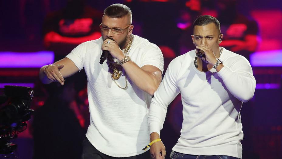 German rappers Kollegah and Farid Bang