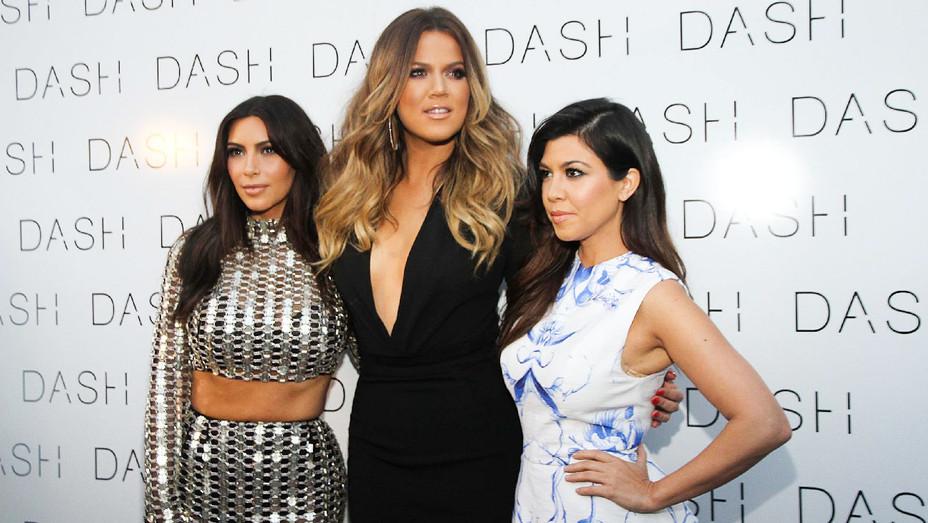 Kim, Khloe and Kourtney - 2014 DASH - Getty - H 2018