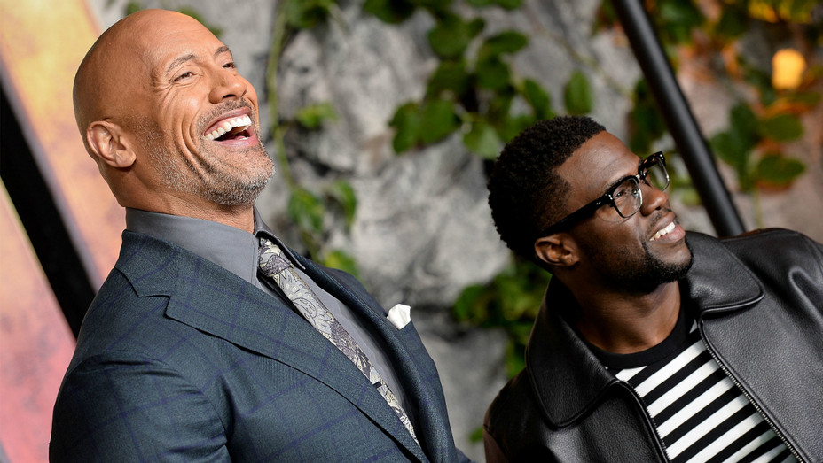 Dwayne Johnson and Kevin Hart - Getty - H 2018