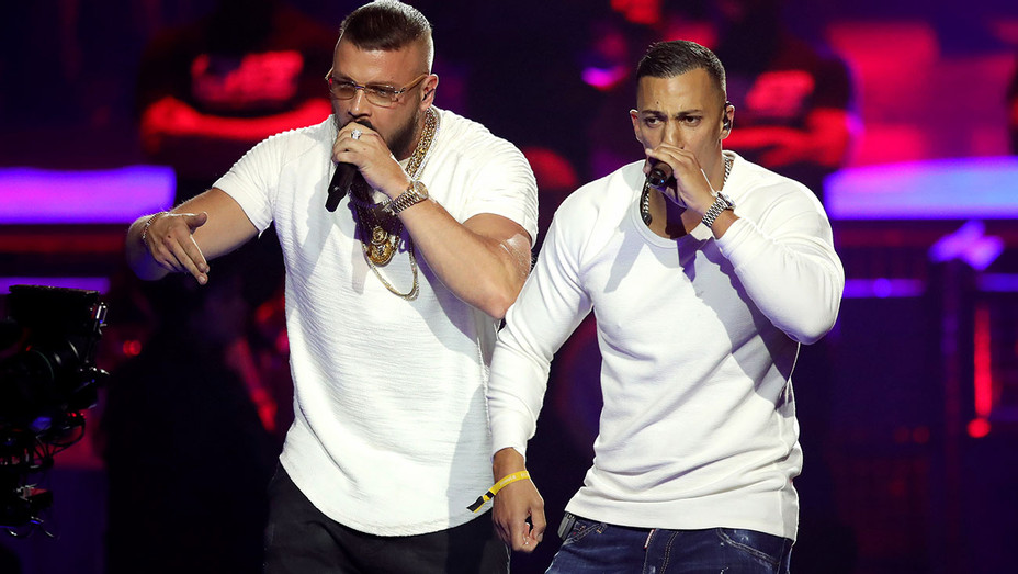Farid Bang and Kollegah perform on stage during the Echo Award show 2018  - Getty-H 2018