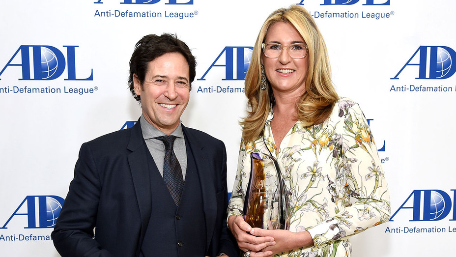 Rob Morrow and honoree Nancy Dubuc -Anti-Defamation League Entertainment Industry Dinner - Getty-H 2018