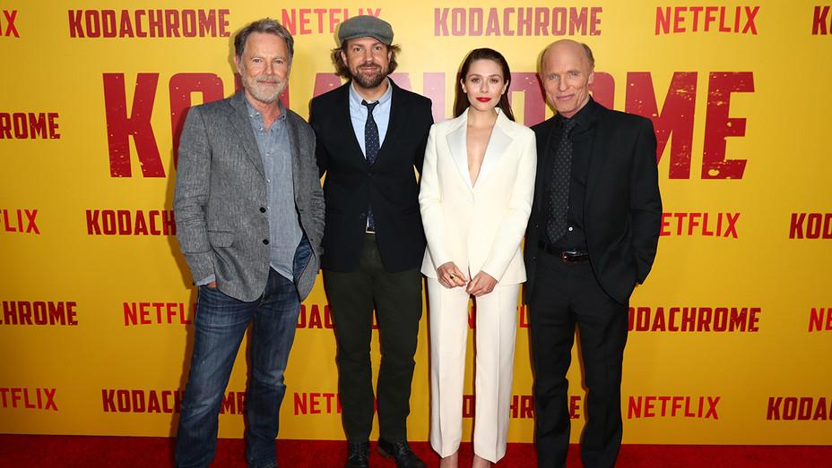 Bruce Greenwood Jason Sudeikis Elizabeth Olsen Ed Harris Kodachrome - Getty - H 2018