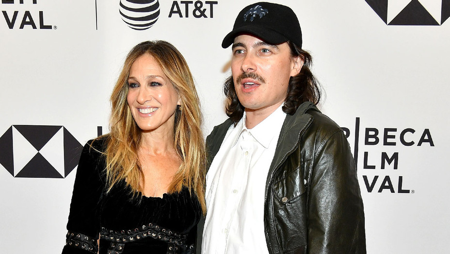 Sarah Jessica Parker and Fabien Constant - Blue Night Screening - Getty - H 2018
