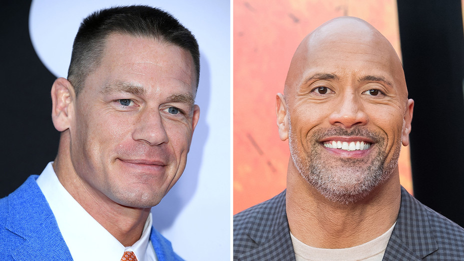 John Cena Dwayne Johnson Split - Getty - H 2018