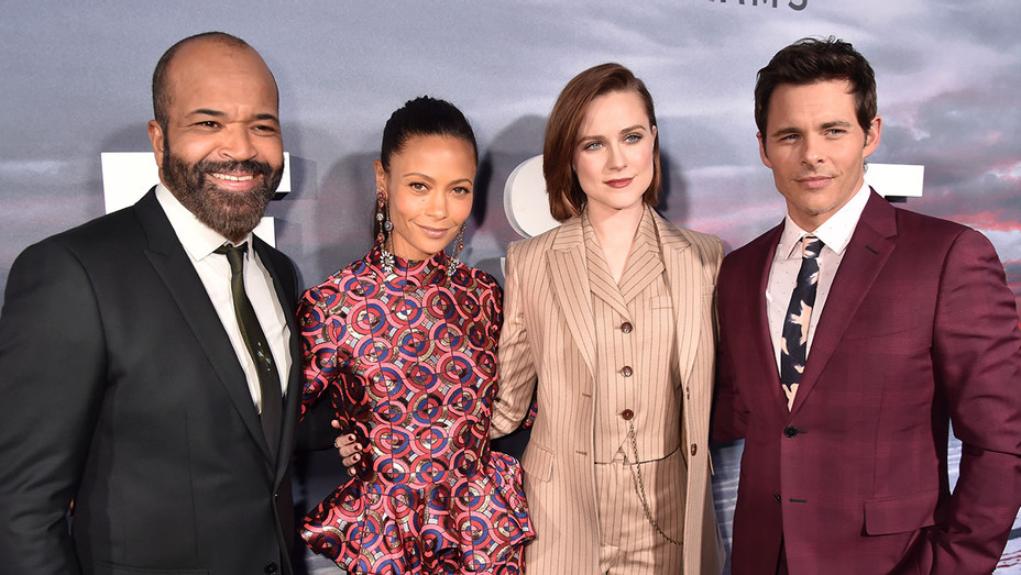 Jeffrey Wright, Thandie Newton, Evan Rachel Wood and James Marsden_Westworld Season 2 Premiere - Getty - H 2018