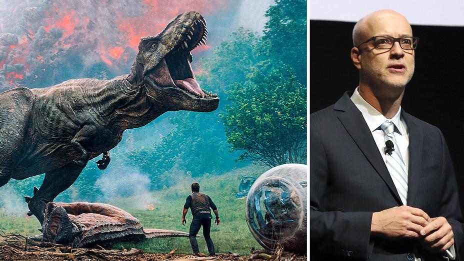 Jurassic World- Fallen Kingdom and John Fithian-Publicity-H 2018