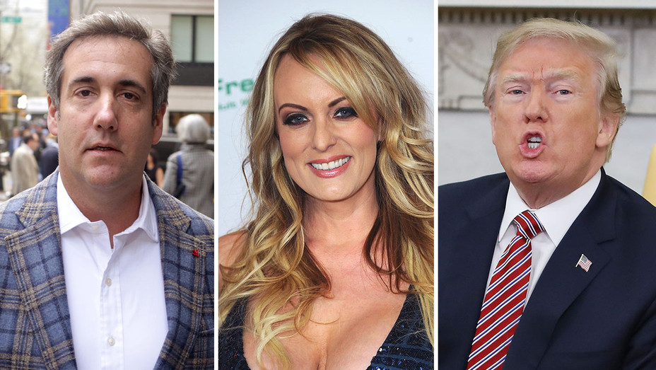 Michael Cohen_Stormy Daniels_Donald Trump_Split - Getty - H 2018