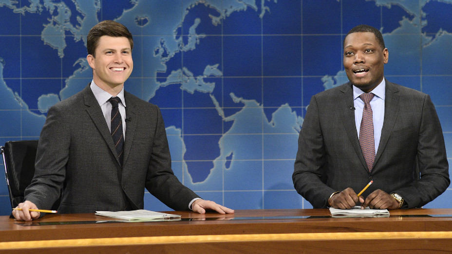Saturday Night Live Still Colin Jost and Michael Che - Publicity - H 2018