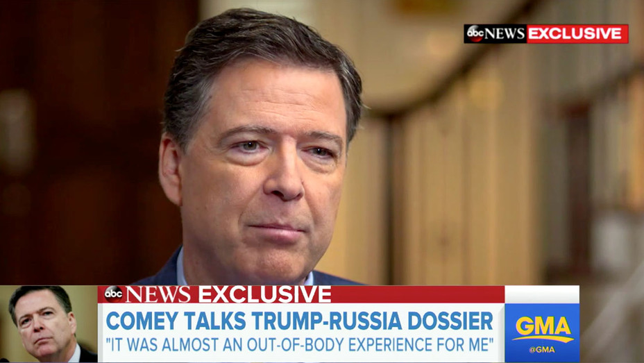 George Stephanopoulos interviewing James Comey - Screen shot -H 2018