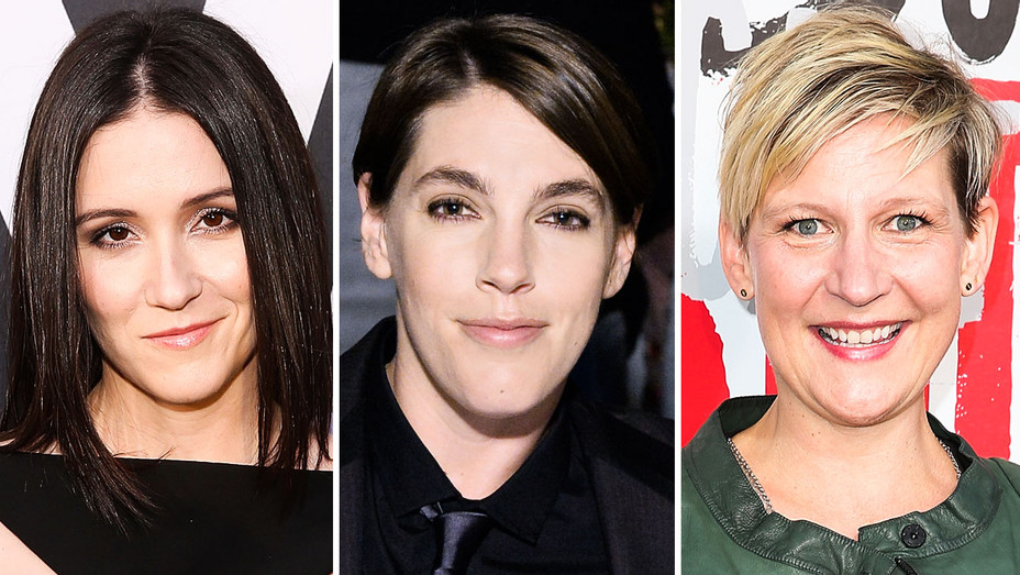Shannon Woodward, Megan Ellison and Sue Naegle - Split - Getty - H 2018